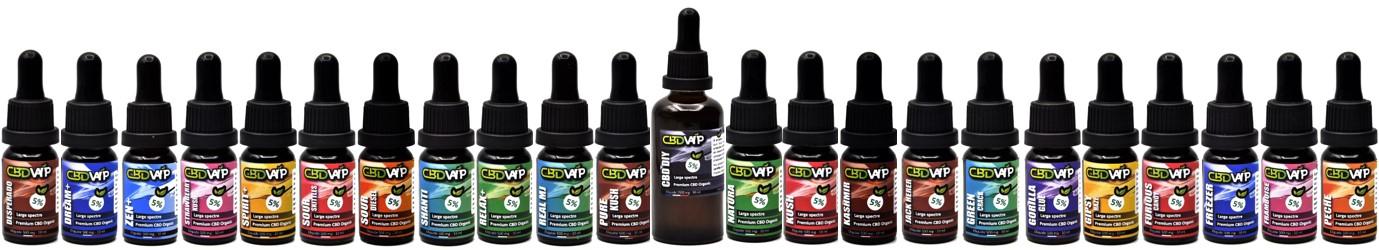 Catalogue d'E-liquides CBD